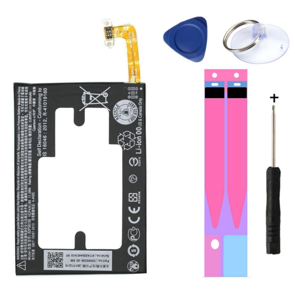 Boa qualidade 3000 mah b2ps6100 substituição da bateria para htc um m10 10/10 estilo de vida m10h m10u capacidade real