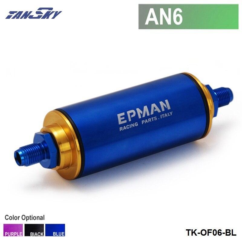 Prix pour TANSKY-Racing Prêt Inline Filtre À Carburant AN6 Bleu avec 100 Micron Élément TK-OF06-BL