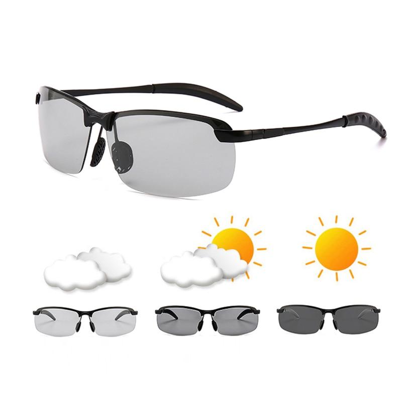 fec80d0ae6 Fotocromáticos gafas de sol para hombres, gafas de conducir camaleón gafas  hombre cambiar de Color
