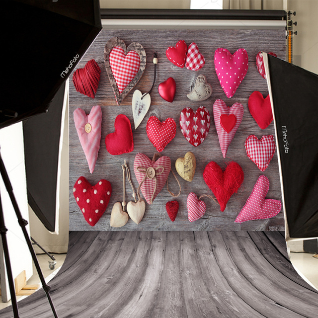 Children Photography Backdrops Cute Heart Shaped Gift Photo