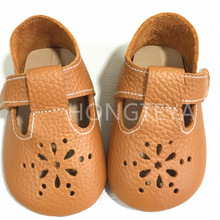 Baby Shoes Hollow first walkers Anti-slip Pu leather crib Gi