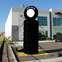 Giant Novelty Inflatable Tire Balloon for Advertising/Promotion 10 ft High