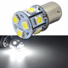 2/4/10 шт./лот P21W 1156 BA15S 7506 R5W R10W 5050 9 светодиодный автомобилей тормозной фонарь Обратный лампы транспортных средств, 24 В белый