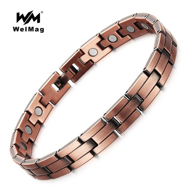 1c34984060b3 WelMag salud puro Bio magnético de cobre pulseras saludable terapia pulsera  para hombre joyería en Pulseras del holograma de Joyería y accesorios en ...
