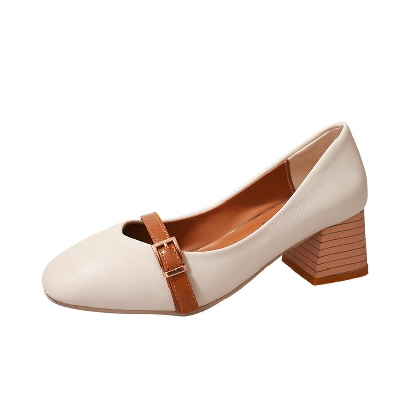 Mujeres Bombas Talones Zapatos Mujer Eleganet Grueso Talón Casual - Zapatos de mujer - foto 1