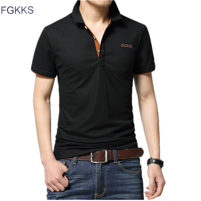 FGKKS 2017 Brand New Summer Men Polo Shirt Casual Cotton Short Sleeve Male Polo Dress Men Brand Clothing Polo Homme Shirts