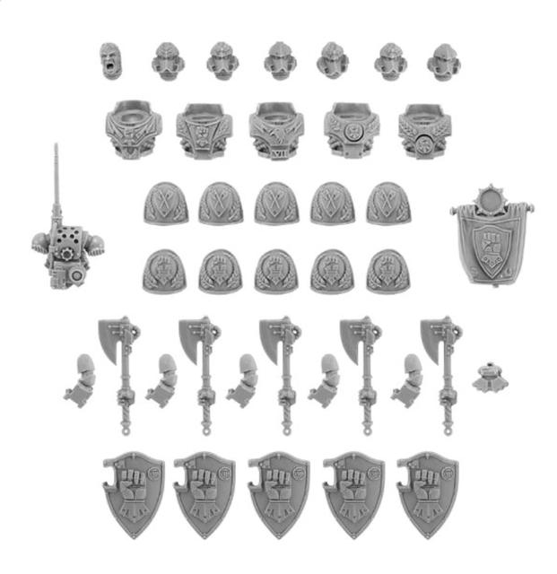 Chegada nova Punhos Imperiais Falange Guarda Legião Esquadrão Atualize Set
