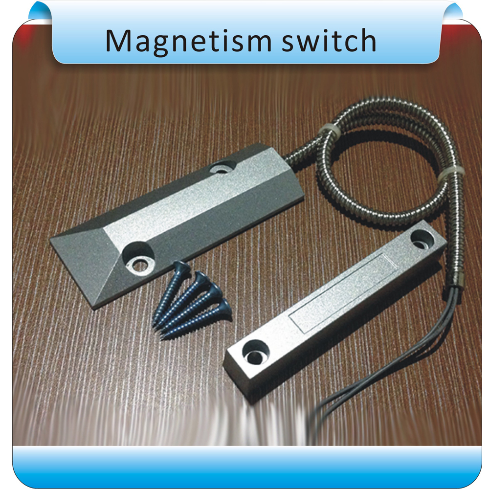 10pcs aluminum Wired Door Window Sensor Magnetic Switch Home Alarm System normally closed (NC type) wired metal roller shutter door magnetic contact switch alarm oc 55 door magnetic switch home alarm system n c type