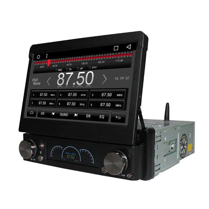 Android 7,1 7 Универсальный 1 Din автомобильный аудио dvd плеер + радио + GPS + Авторадио + стерео + Bluetooth + ПК + Automotivo + SD USB RDS Aux + камера - 4