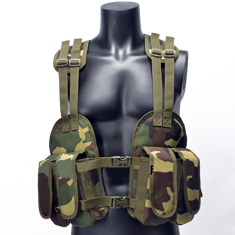 Outdoor Hunting Military Tactical Vest Chest Rig Pouch Magazine Holder Bag Platform Polyester Adjustable Padded Modular Vest fire maple sw28888 outdoor tactical motorcycling wild game abs helmet khaki