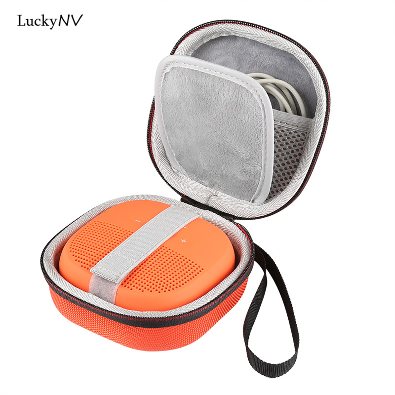 LuckyNV Cover Case For Bose SoundLink Micro Bluetooth Wireless Speaker -Fits For Plug&Cables Pouch Box Storage Strap Zipper Bag image