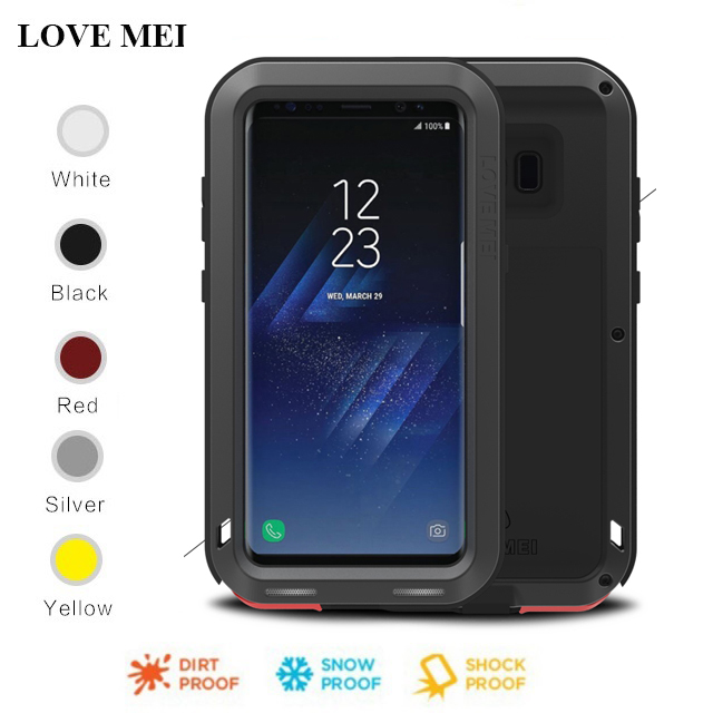 los angeles 0e063 6c4d8 US $32.48  For Samsung S9 Plus Case Love Mei Powerful Shockproof  Aluminum/Metal protective Case Cover For Samsung Galaxy S8/S8 Plus/Note8  -in Fitted ...