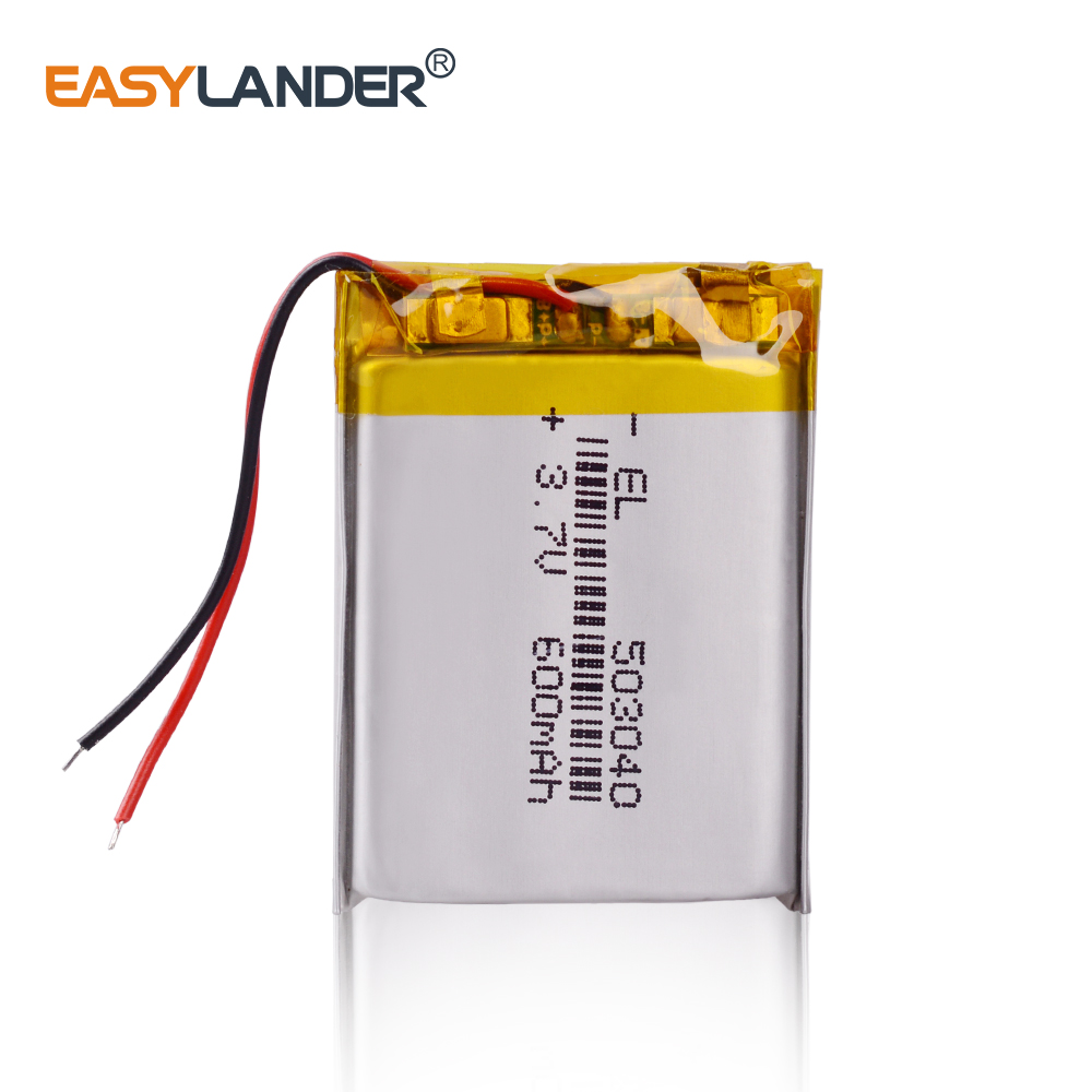 <font><b>3.7V</b></font> lithium polymer battery 503040 053040 Rechargeable Li-Po Batteries For MP3 MP4 MP5 GPS Bluetooth DIY audio / Toys <font><b>600MAH</b></font> image