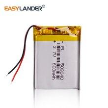 цена на 3.7V lithium polymer battery 503040 600MAH Li-Po Batteries For MP3 player MP4 MP5 GPS Bluetooth speaker DIY audio / Toys