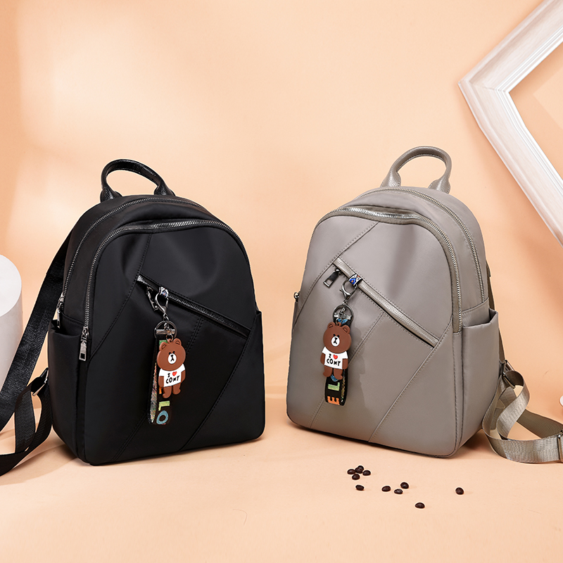 Lady Fashion women backpack Oxford teenage girls casual large capacity shoulder bags High Quality Solid Color Streetwear Bookbag in Backpacks from Luggage Bags