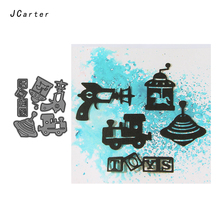 JC New Metal Cutting Dies for Scrapbooking UFO Train Toys Cut Craft Stencil Handmade Card Make Model Template Decoration