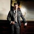 Personalizado Fazer 2017 Hot Sale Da Moda Noivo Smoking Melhor Casamento homem Suit Groomsmanmen Suits Noivo (Jacket + Pants + colete)