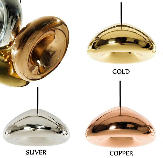 Loft Industrial Copper Brass Bowl Mirror Glass Bar Art Modern E27 LED Pendant Lamp 15CM Coffee