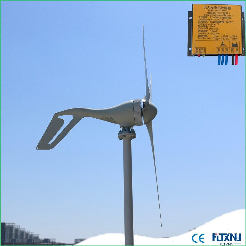 Nouveauté 400 W générateur d'énergie éolienne génération d'énergie éolienne 400 W 12 v 24 v contrôleur de vent automatique