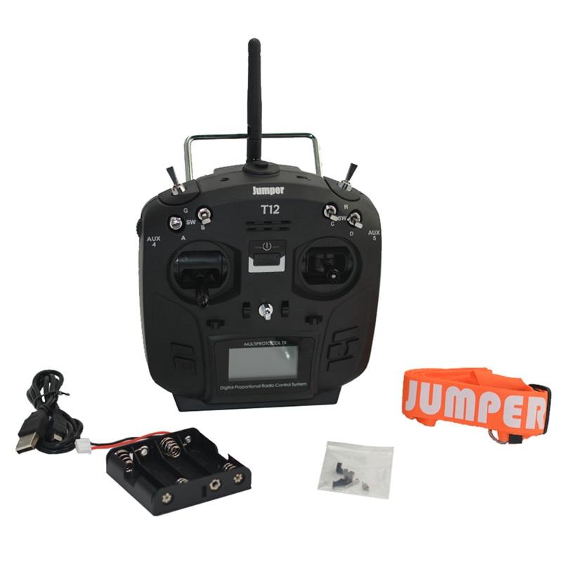 1 PC JUMPER T12 Plus télécommande w/Hall Rocker pour FUTABA/DSM/Frsky/Wfly récepteur émetteur RC Drone pièces d'avion