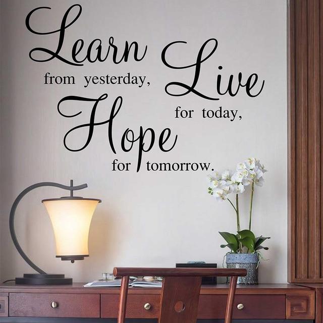 leren levende hoop quotes muurstickers familie quotes sticker voor woonkamer slaapkamer familie verwijderbare vinyl quotes muurtattoo
