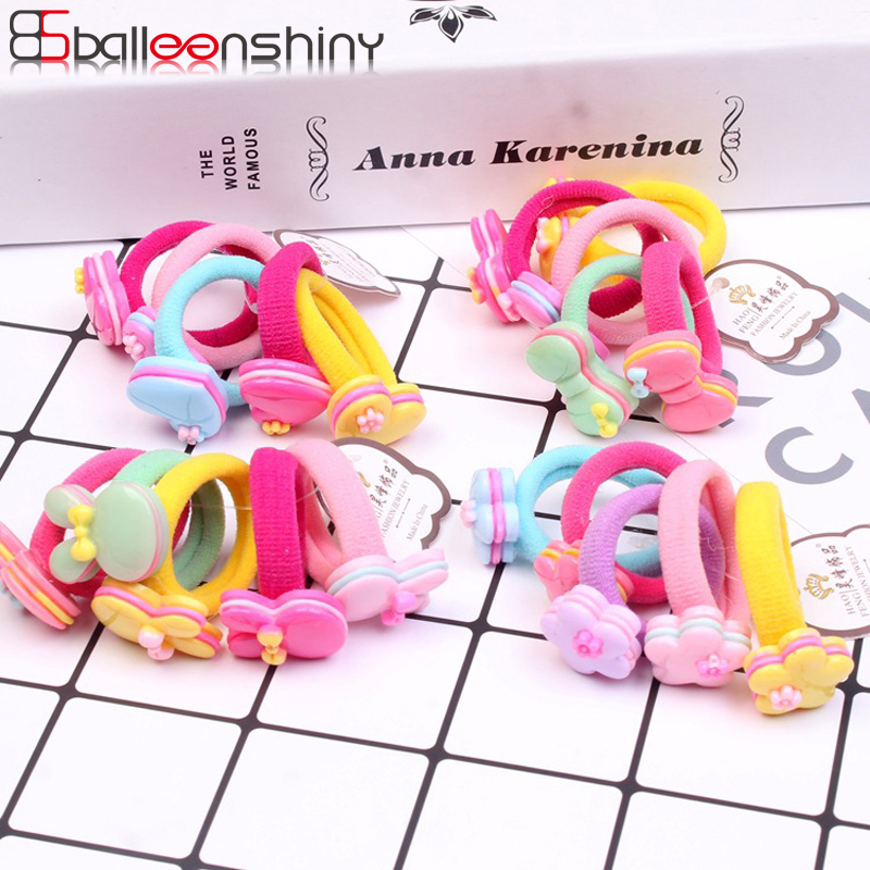 BalleenShiny 5 Pcs/lot Fashion Floral Elastic Hair Ropes Baby Girls Hair Bands New Arrival Children Kids Headwear Hair AccessoryBalleenShiny 5 Pcs/lot Fashion Floral Elastic Hair Ropes Baby Girls Hair Bands New Arrival Children Kids Headwear Hair Accessory