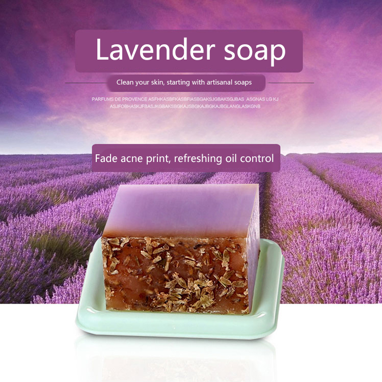 Lavender Handmade Soap 100g Essential Oil Soap Bath Soap Lavender Handmade Soap Moisturizing