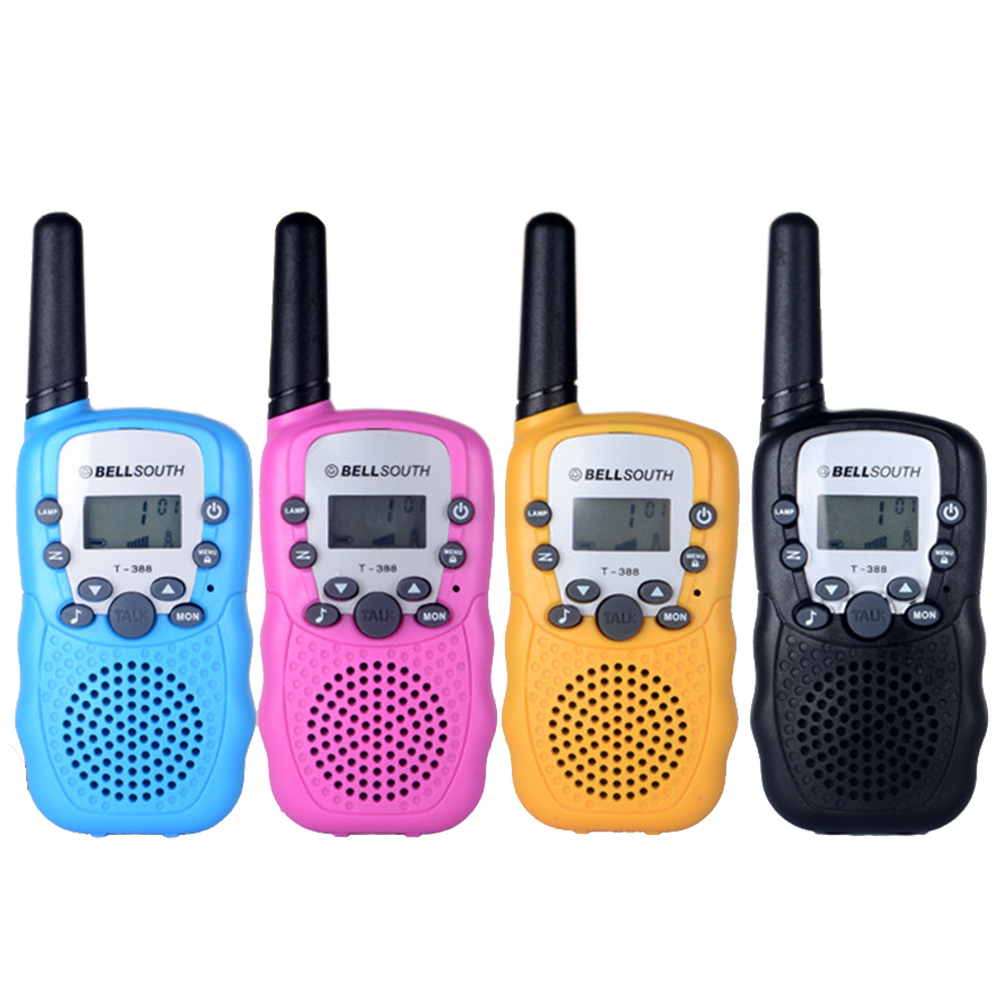 Up to 2KM Talk Range 2PCS/pair Kids Toy Walkie Talkies for Children Interactive Funny Radio Communicator disney toy walkie talkies children s toy intercom outdoor wireless call handheld boy girl talkback telephone