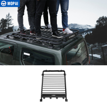 MOPAI Car Roof Racks Exterior Boxes Metal Waterproof Luggage Carrier for Suzuki Jimny Car Accessories Styling