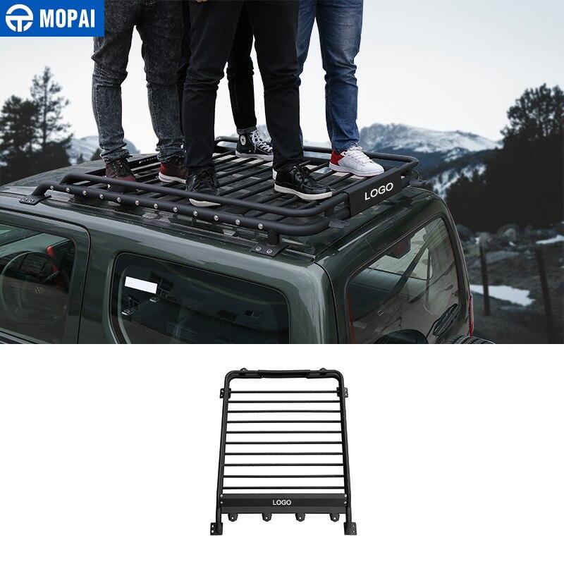 Supports de toit de voiture MOPAI boîtes extérieures porte-bagages étanche en métal pour accessoires de voiture Suzuki Jimny