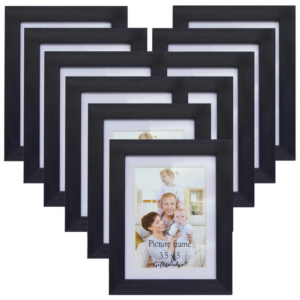 Giftgarden Wall Photo Frame Set Picture Frame Black Wall Home Decoration Accessories, Made To Display Photos 3.5x5, Set of 10