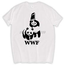 410b76fa FUNNY WORLD WILDLIFE FOUNDATION WWF T-shirt cotton Fashion Brand t shirt  men new high quality