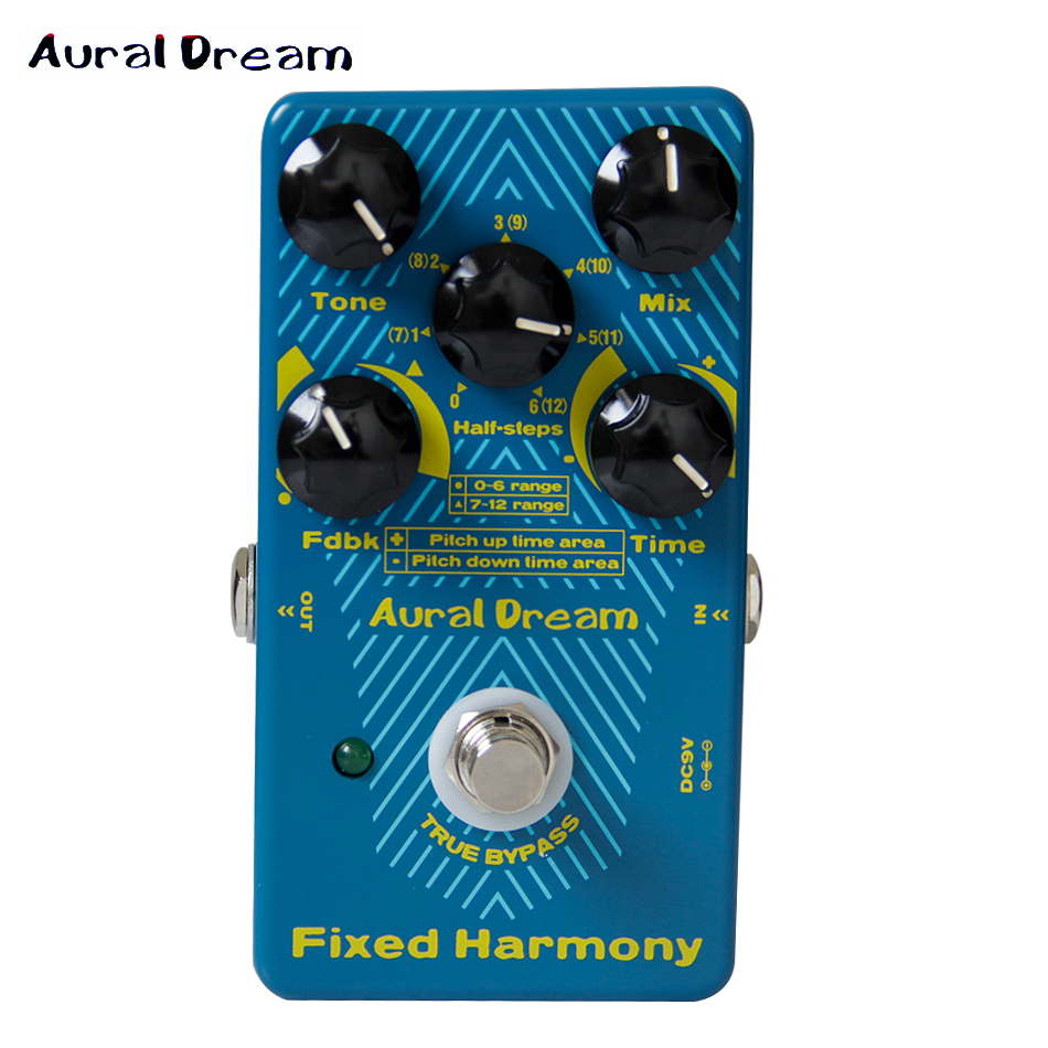 2017 new effect pedal aural dream fixed harmony effects pedal for guitar accessories new. Black Bedroom Furniture Sets. Home Design Ideas