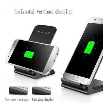 96613773929 10 W inteligente QI inalámbrica rápida cargador de la energía para apple  iPhone 8 X XS X samsung cargador s9 S7 Edge teléfono celular soporte  soporte de ...