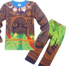 c25af957871fc Filles mode vêtements ensembles Moana Cosplay Maui Costume enfant garçons  ensemble décontracté t-shirts enfants Sports costumes .