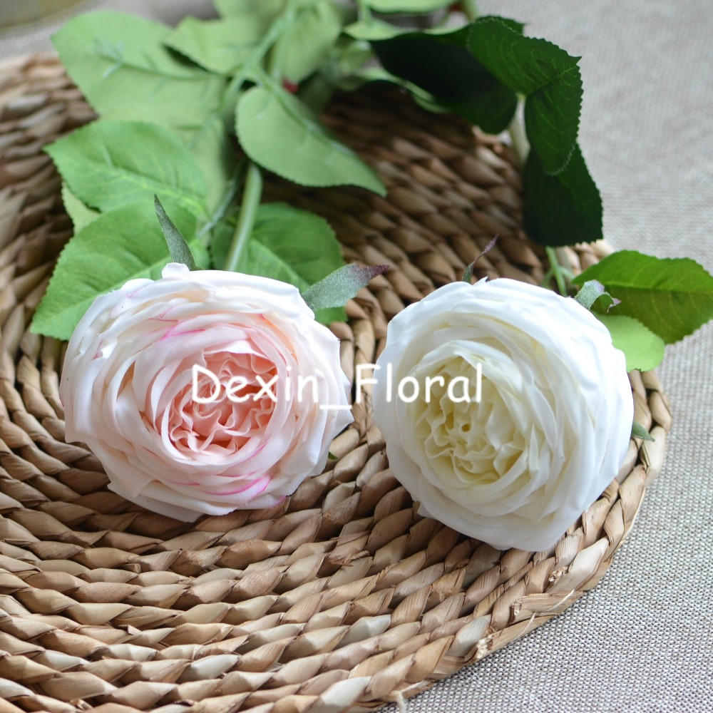 Old English Roses Real Touch Roses Blush Cream Ivory Silk Roses Diy