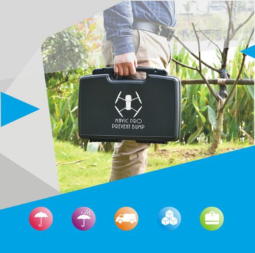 DJI Mavic Pro Suitcase Moistureproof Explosion-proof Outdoor Black Portable Aluminum Box Safe Protective Storage Box RC Drone top quality suitcase travel transport safety storage case bag for dji spark accessories pgytech portable explosion proof box