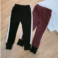Children S Warm Pants Kids Girls Sports Trousers Autumn Winter Baby Trousers Casual Pants Child Solid