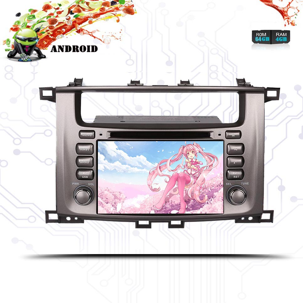 2 Din Android 9.0 4g 64g Octa Core 4g Car Dvd-speler Voor Toyota Land Cruiser 100 Lc100 1998-2007 Multimedia Stereo Tape Recorder