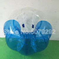 Half Blue Half Clear Inflatable Soccer Bubble Ball 1.0MM TPU Body Zorb Ball Giant 1.7M Dia Inflatable Hamster Ball For Human