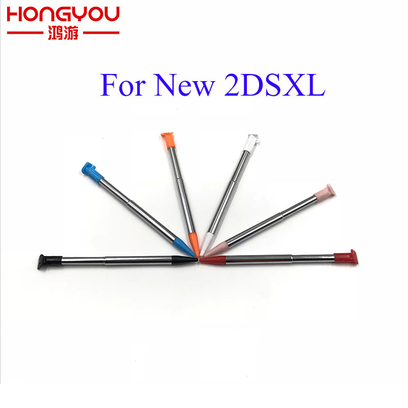 10Pcs Mteal Plastic Retractable Stylus Pen Screen Touch Pen For Nintendo New2DSLL XL / LL Game Console