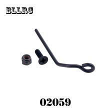 RC car HSP 02059 Exhaust Pipe Cap Screw & Nut For 1/10 RC Model Car Flying Fish 94122 94106 94166 94155 94177 94188 94108