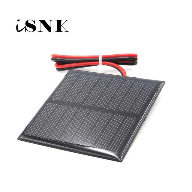 لوحة طاقة شمسية 3V 3.5V 4V مع نظام طاقة شمسية مصغر سلك 30 سنتيمتر لتقوم بها بنفسك لشحن بطارية الهاتف الخلوي 0.36W 0.45W 0.9W 0.24W 0.6W 0.64W toy