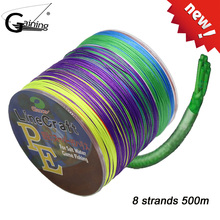 8Strands Braided Fishing Line 500m Multicolor Super Strong Japan Multifilament PE Braid Line 20LB 30LB 40LB 55LB 70LB 85LB 108LB 500m 8x dah fishing brand super strong japan multifilament pe braided fishing line 8 strands 15lb 20lb 30lb 40lb 50lb 80lb 100lb