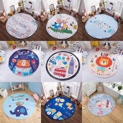 Multifunción de dibujos animados encantador Animal zorro jirafa patrón de juego esteras bolsa de almacenamiento de juguete alfombra de gateo alfombra para bebé niños Estilo nórdico