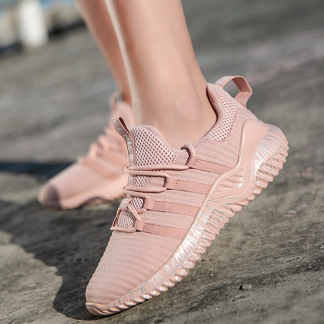 Sport Sneakers for Women Scarpe Donna Fly Knitting Breathable Shoes Woman High Quality Footwear Female Shoes Flats Dropshipping 4