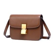 купить Small square bag 2018 new leather female bag tofu bag mirror leather bag woman shoulder slung spring flight attendant дешево