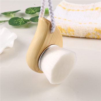 Top Quality Fiber Soft Brush Deep Cleaning Blackhead Nose Washing Brush Pore Clean Brush Wooden Handle Brush Cleanser Small Tool 2