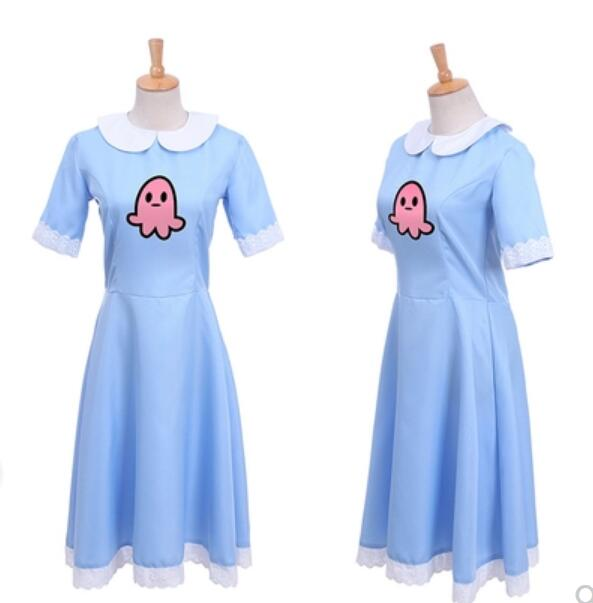 Carnival Purim costume for kids Anime Star vs. The Forces of Evil Women Cosplay Costume Princess Star Butterfly Blue long dress