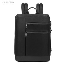FANLOSN Laptop Backpack External USB Charge Computer  Large Capacity Students Business Bag Waterproof Bags for Men Women